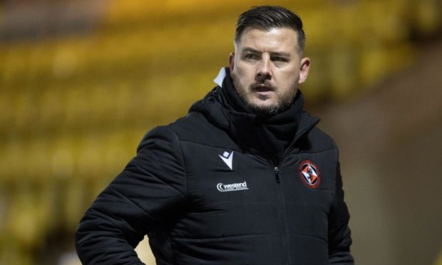 Tam Courts on the touchline during December match against Livingston.