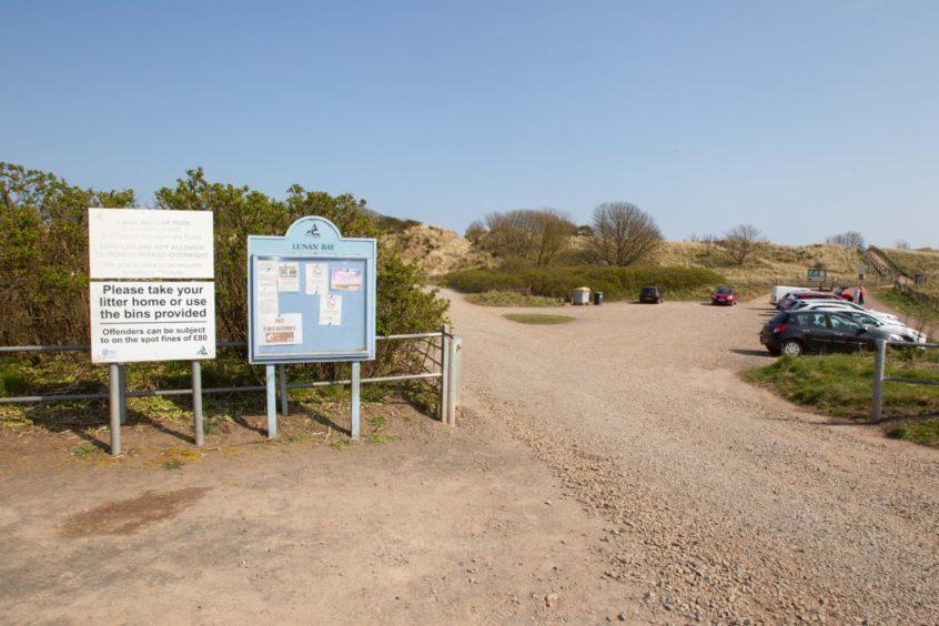 The beach car park.
