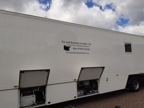 A trailer spotted in Dundee.