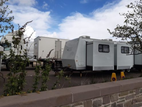 Film trailers at the waterfront