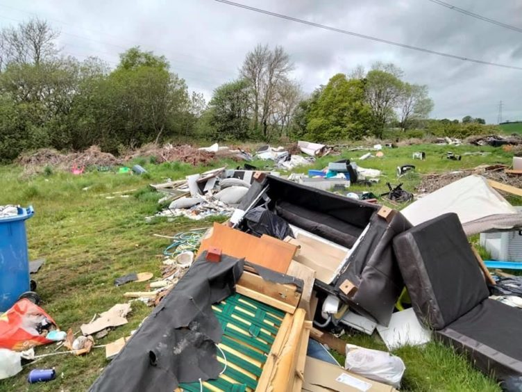 Westfield fly-tipping