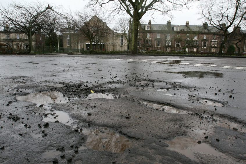 Angus residents may face a long wait to see potholes repaired.