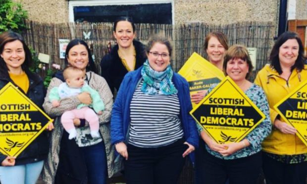 Aude Boubaker-Calder and campaigners.