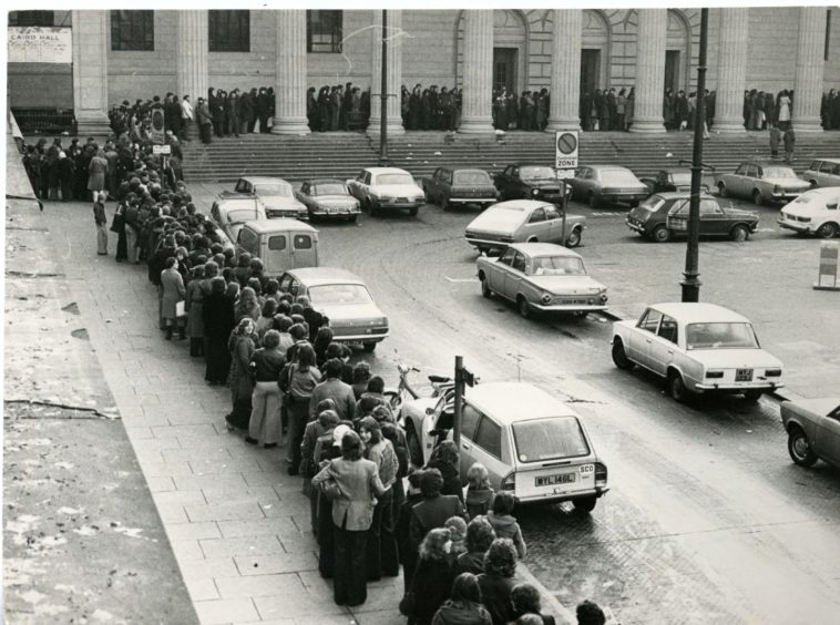 The queue for tickets to see Elton John