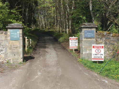 A road leading to Glen Tilt in Blair Atholl