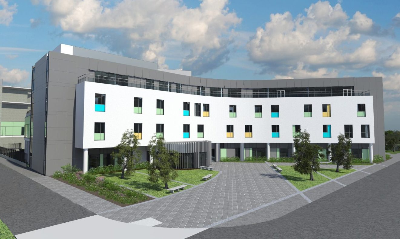 Artist impressions of The Anchor Centre and Baird Family Hospital.