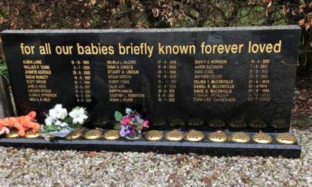 Memorials at Dunfermline Cemetery after they were cleaned