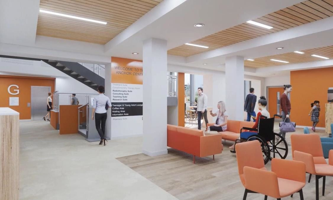 An artist's impression of one of the coffee areas for patients in the new Baird Family Hospital and Anchor Centre facilities.