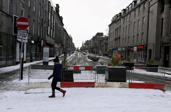 Union Street has been closed for the last year due to the Spaces For People physical distancing work - and the harsh winter hindered roadworks too