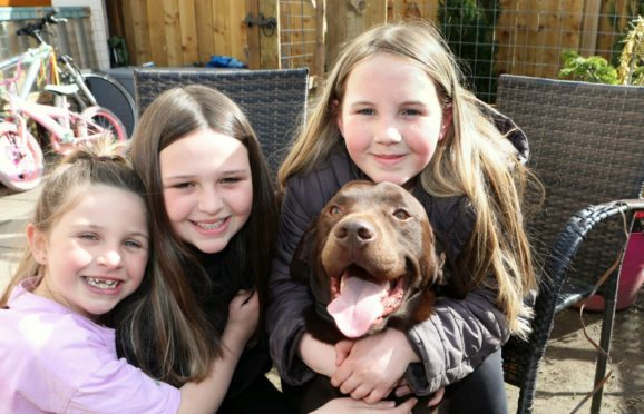 The youngsters were delighted at the return of Rocco.