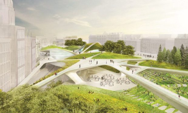 The Granite Web was selected as the preferred design for the Sir Ian Wood backed City Gardens project