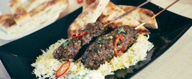 Lamb and haggis kofta kebabs from Macsween