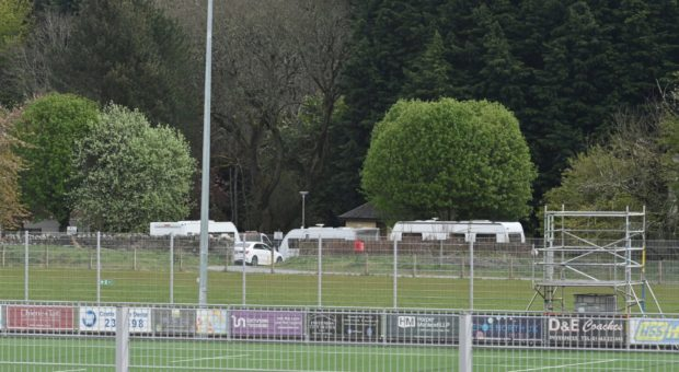 The travellers at Whin Park