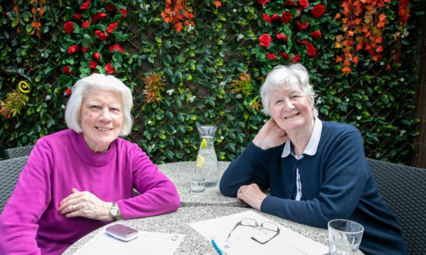 Margaret Kean and Norma Findlay at The Fort, Fort Street, Broughty Ferry.