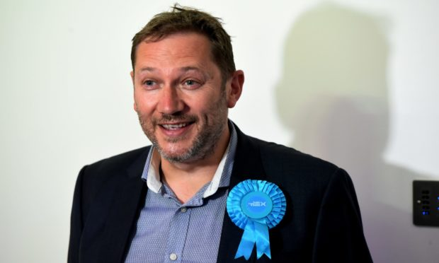 Councillor Douglas Lumsden after his election to Holyrood on the North East regional list