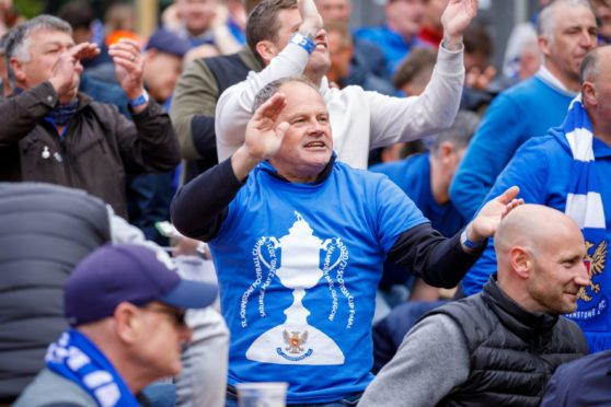 St Johnstone fans were delighted at the team's success.