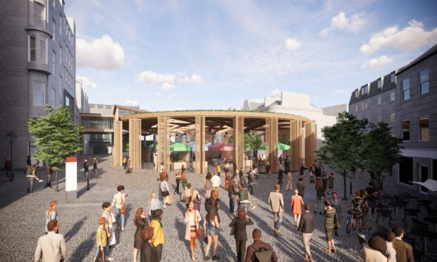 Concept images of the entrance to the new market from The Green