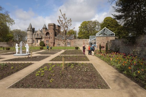 The first phase of planting at Hospitalfield.