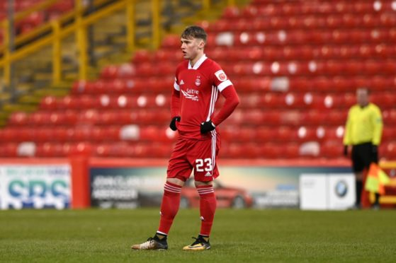 Ethan Ross in action for Aberdeen.