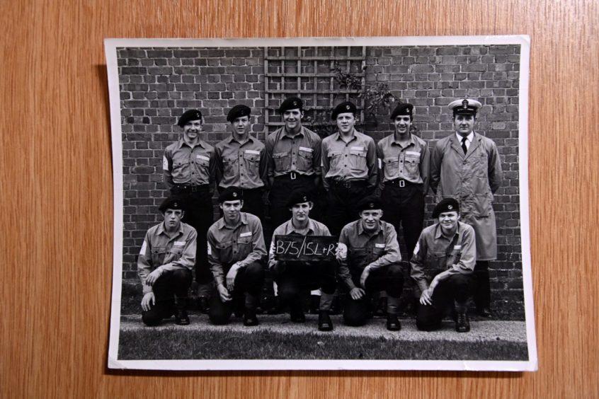 Howard Drysdale and fellow Royal Navy sailors