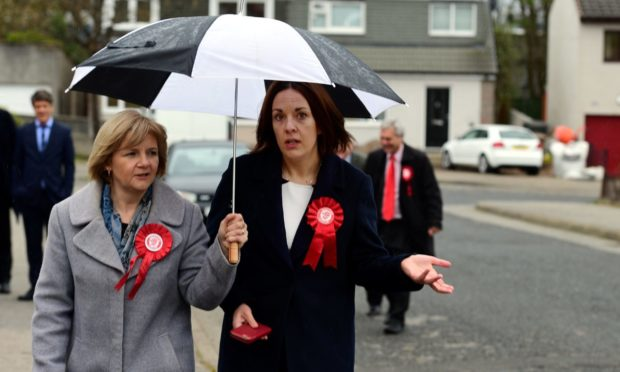 Then Scottish Labour leader Kezia Dugdale and Councillor Jenny Laing, the leader of the Aberdeen group soon to be suspended for striking a deal with the Tories