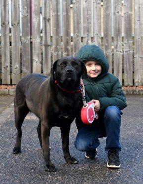 Josh and his best friend Bonny the Labrador.