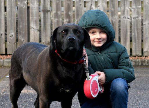Josh and his dog Bonny