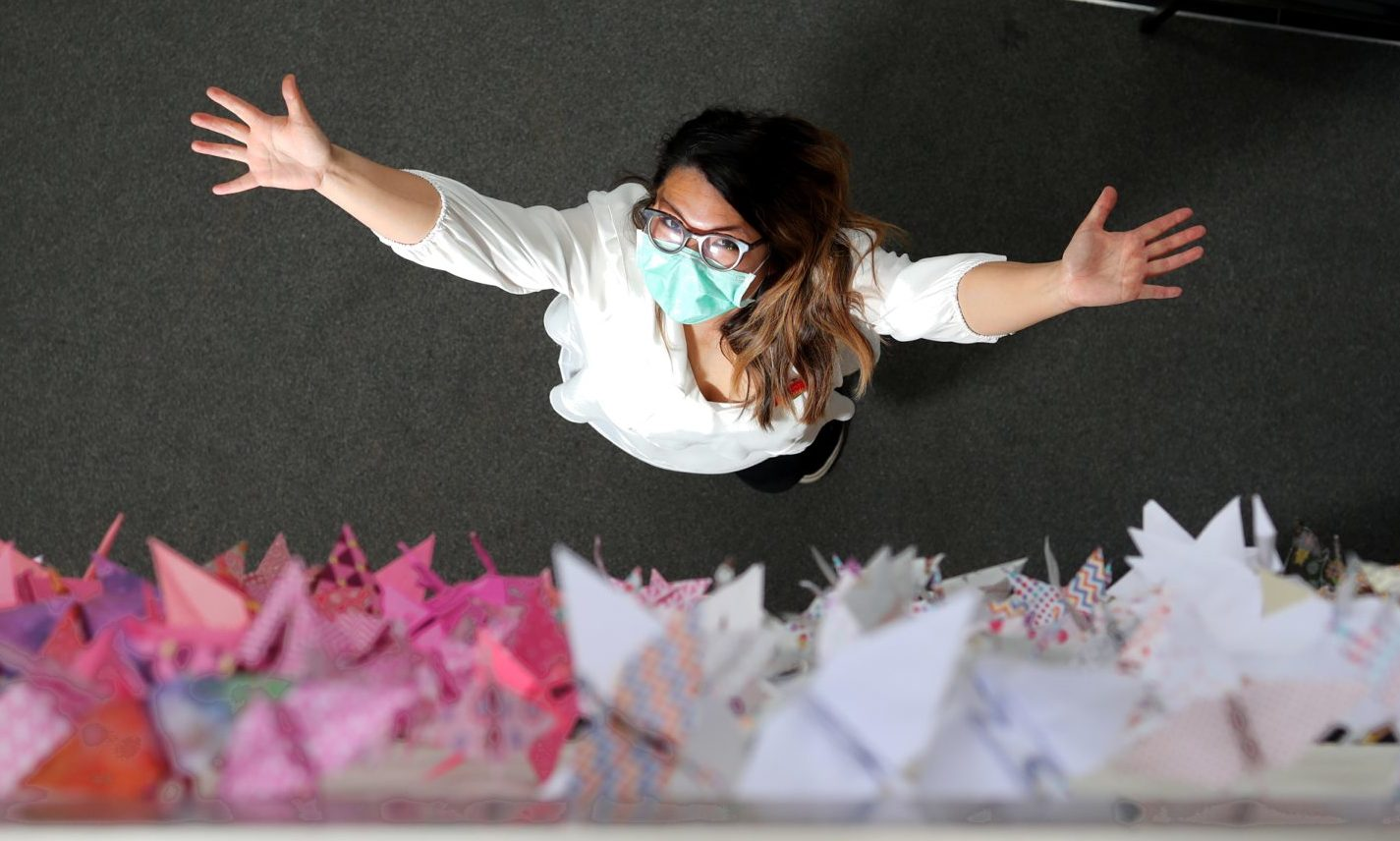 Janet Liddel's project yielded more than 1,000 origami cranes.