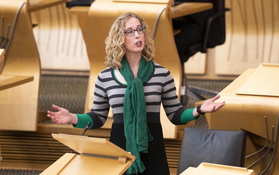 Greens co-leader Lorna Slater in Holyrood.