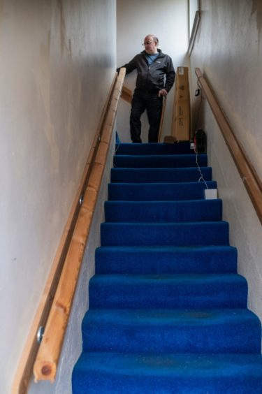 Perry, 57, is only able to leave the house three or four times a month as he struggles with the stairs - having asked for a move to a more suitable council flat three years ago.