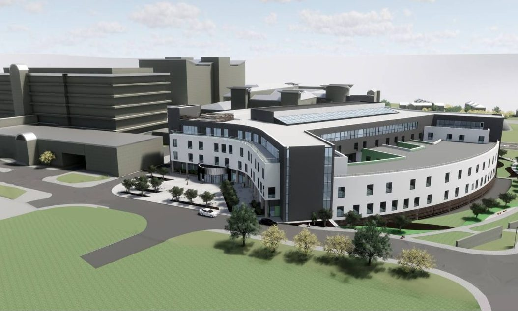 An artist's impression of the Baird Family Hospital and Anchor Centre in Foresterhill.