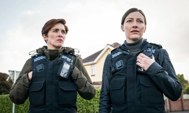 Vicky McClure as DI Kate Fleming and Kelly Macdonald as DCI Joanne Davidson in the sixth season of Line Of Duty on the BBC.