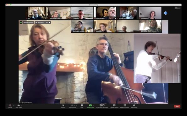 RSNO musicians brought the participants' ideas to life in real time over Zoom.
