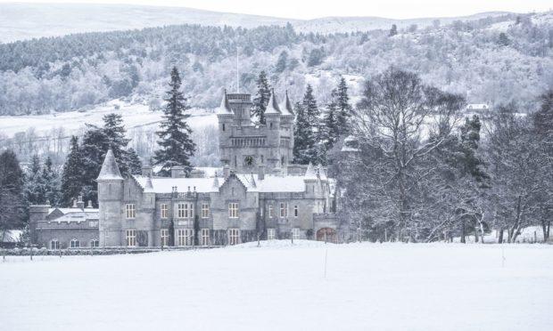 Balmoral Castle in the snow in December 2019.
