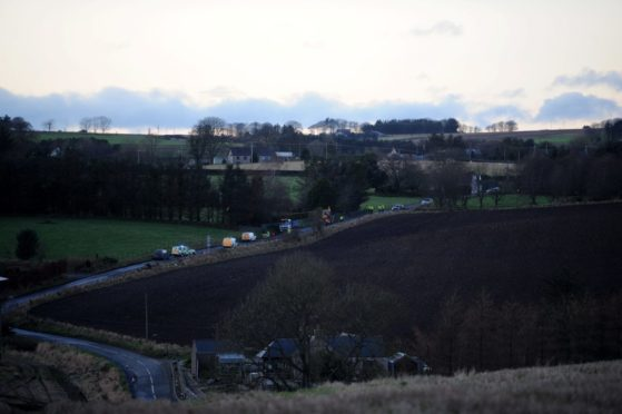 The view of the accident on the B9005 road in January 2016.