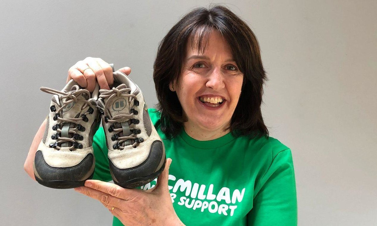 Liz Towsey is one of seven nurses walking two miles per day for Macmillan.