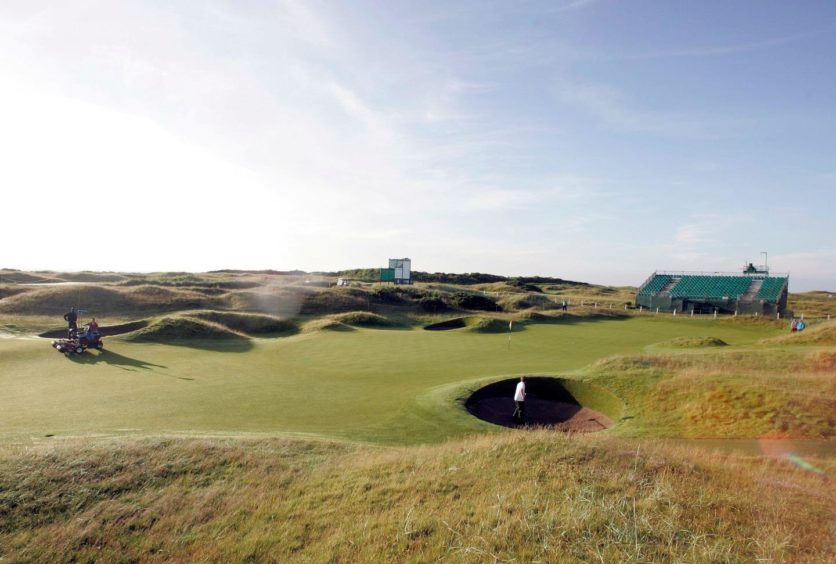 The Championship Course at Carnoustie.