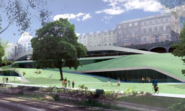 Peacock Visual Arts brought forward this design for a planned £10m contemporary arts centre in Union Terrace Gardens.