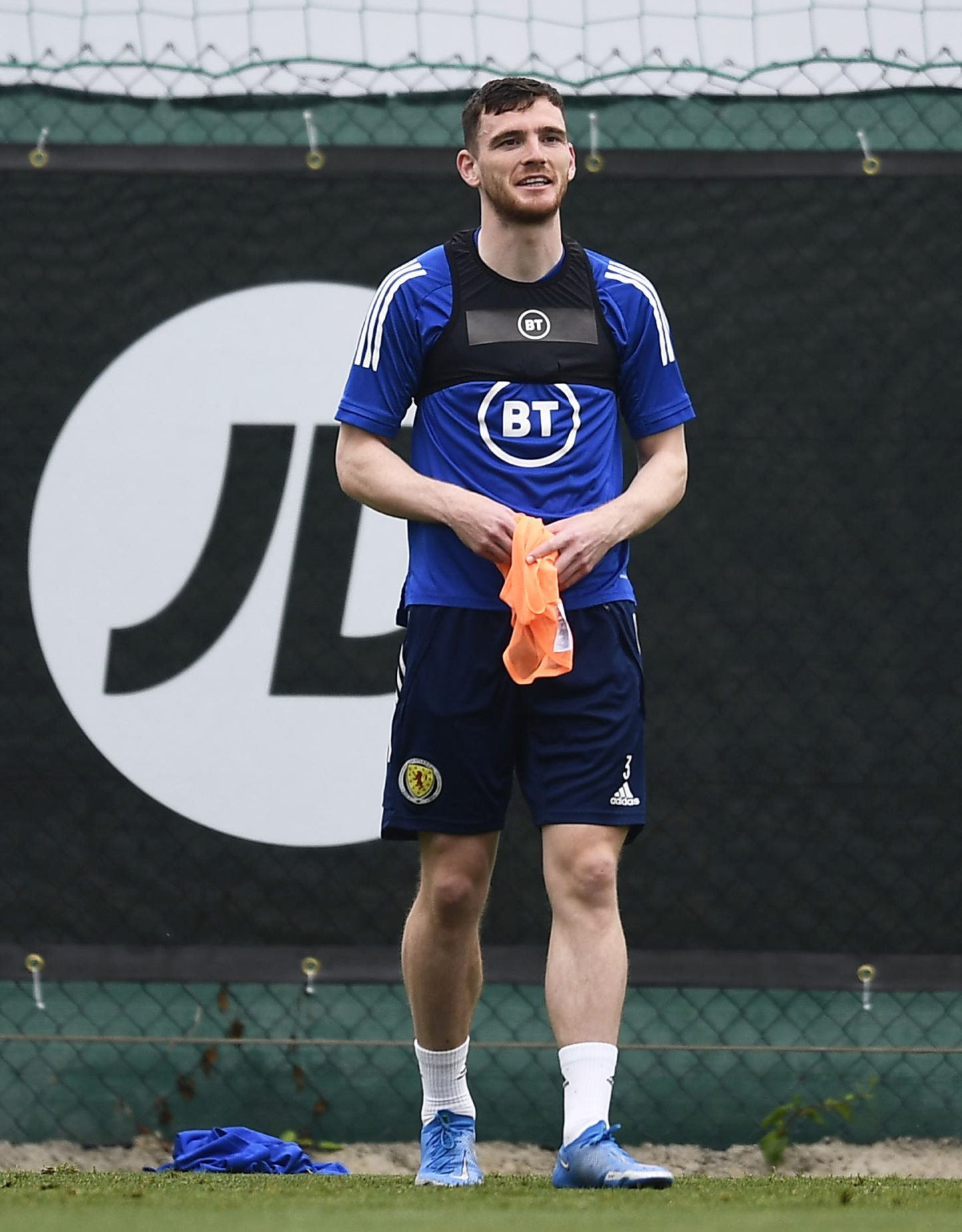 Andy Robertson during a Scotland training session at La Finca Resort in Alicante, Spain