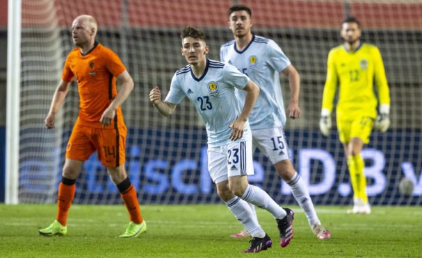 Scotland's Billy Gilmour in action against Netherlands.
