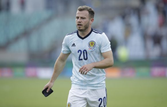 Ryan Fraser in action for Scotland during a friendly match against Luxembourg.