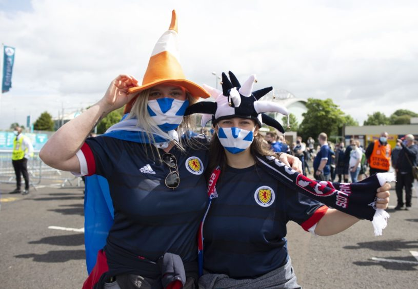 Scotland fans begin to arrive at Hampden.