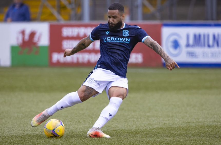 Jakubiak in action for Dundee.