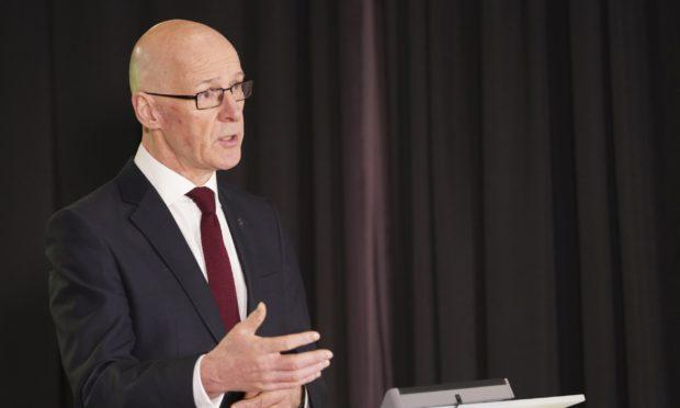 Covid Scotland briefing John Swinney