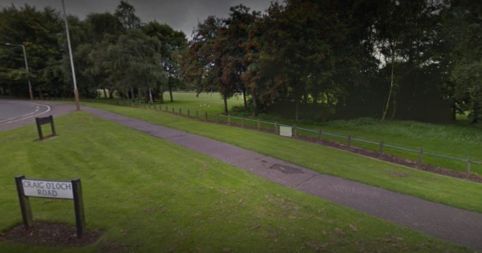 The edge of the country park in Forfar where there has been a sewage leak.