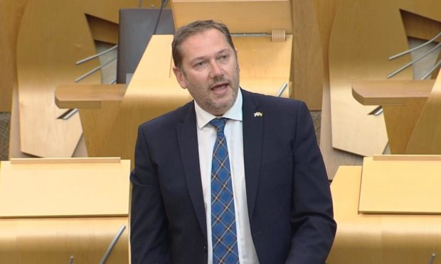 Councillor Douglas Lumsden MSP made his first speech at Holyrood yesterday.
