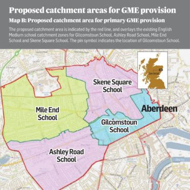 Proposed Aberdeen Gaelic catchment areas