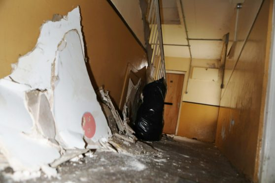 Dundee pensioner ceiling collapsed