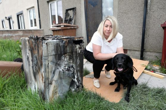 tumble-dryer house fire Dundee