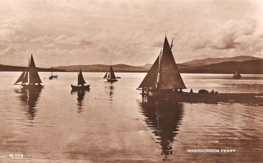 An old picture of sail boats at Invergordon.